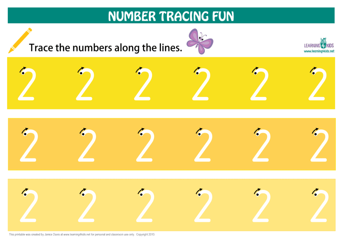 Printable NUmber Tracing Mats Number 1