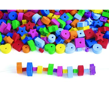 Colorations® Jumbo FunShapes Foam Beads Pack of 500