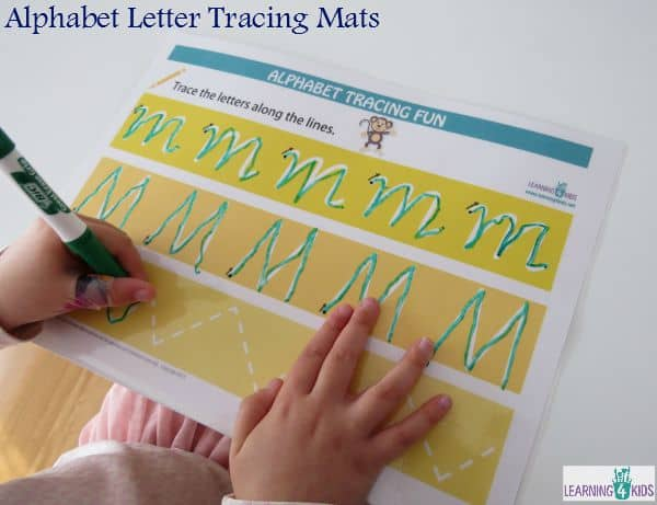 Alphabet Letter Tracing Mats for printing