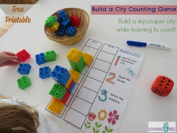 Build a City Counting and Subitising Game | Learning 4 Kids