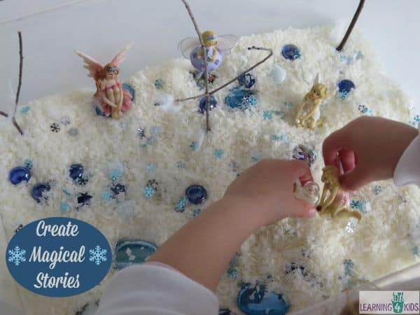 Create magical stories in the small world - snowy wonderland