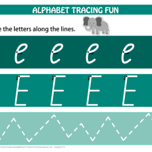 Printable Alphabet Tracing Letter E