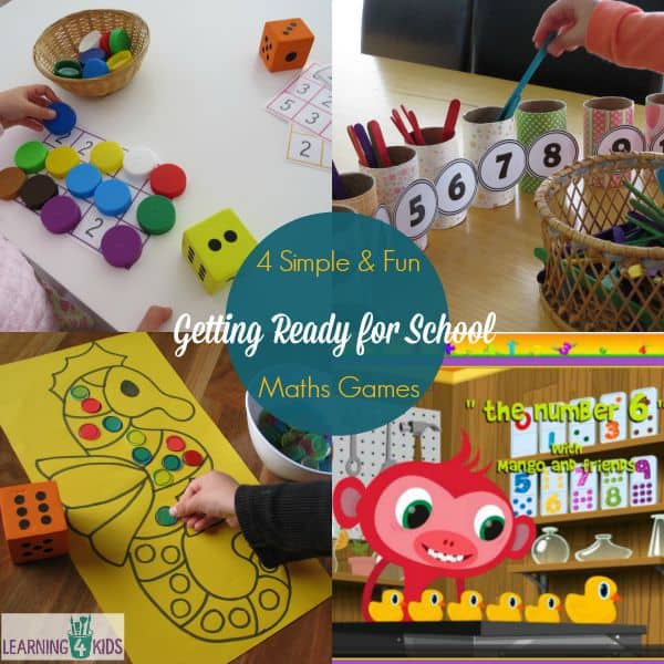 4 Maths Activities for Getting Ready for School | Learning 4 Kids