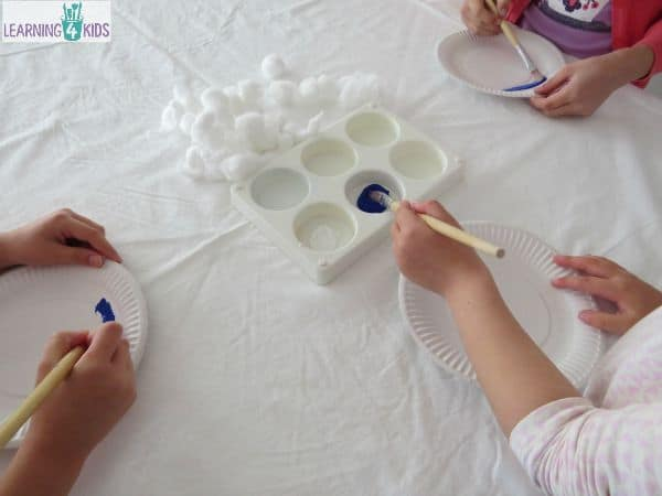 Ideas to make a paper plate cloud craft