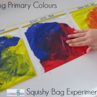 Mixing Primary Colours Squishy Bag Experiment