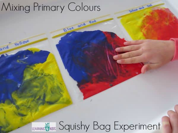 Acrylic Paint In Ziplock Bags Writing