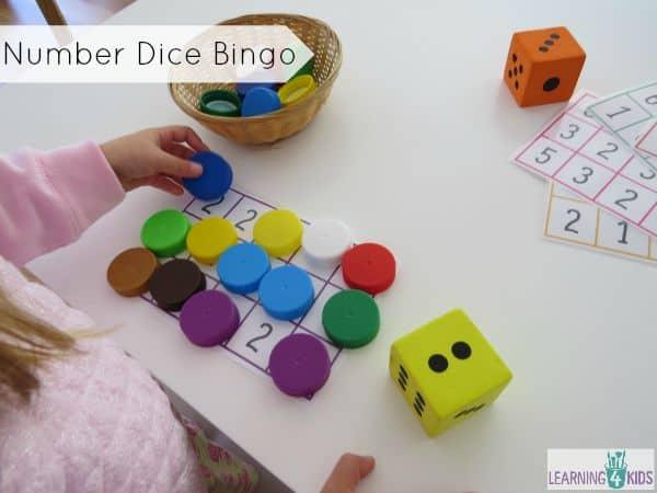 Number Dice Bingo