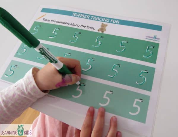 Number Tracing fun Printable