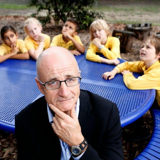 littleBIGidea is a national schools competition run by Origin Energy. Photos of ABC Inventors host James McLoghin, with kids from 5L, class Boronia Park Public School, Hunters Hill. Photography by Quentin Jones.