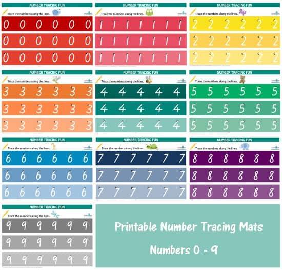 Number Names Worksheets » Printable Number Tracing - Free Printable ...