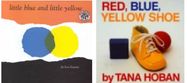 Stories that relate to primary colours - Little Blue and Little Yellow and Red, Blue, Yellow Shoe