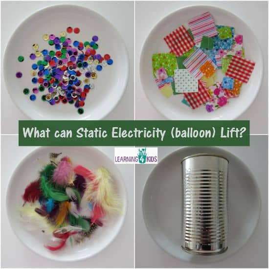What can static electricity lift using a balloon Simple experiment for kids
