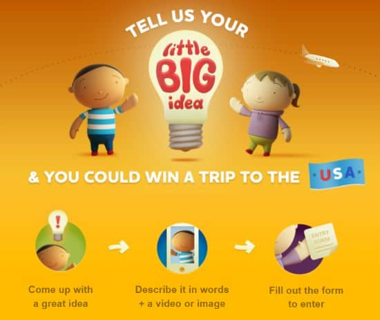 Win a trip to USA with the littleBIGidea competition