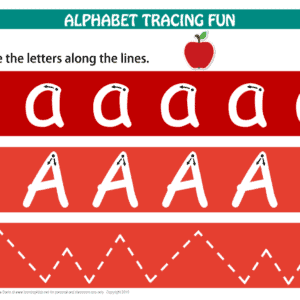 Printable Letter A Tracing Mat