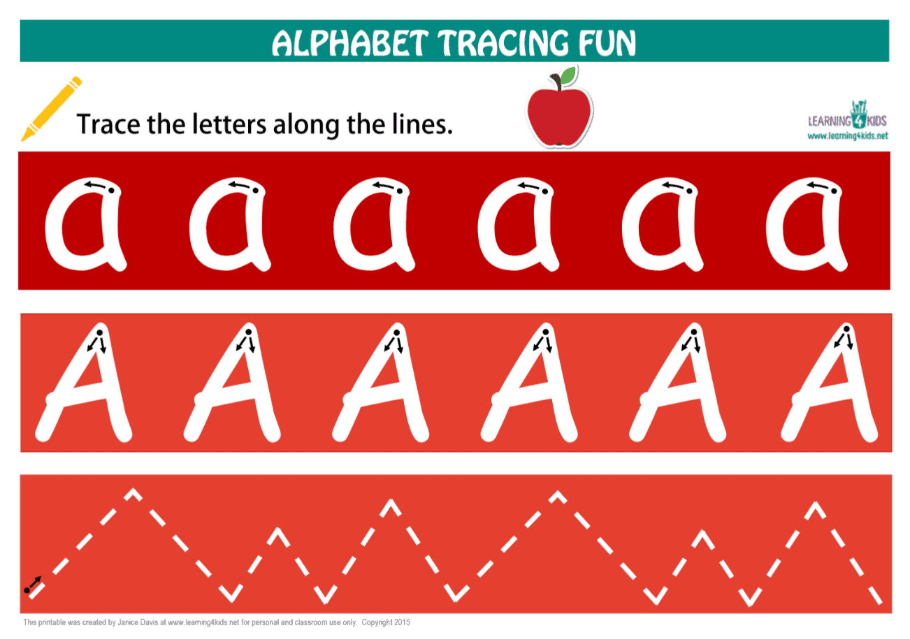 image about Printable Letter identified as Alphabet Letters Tracing Mats Regular Print