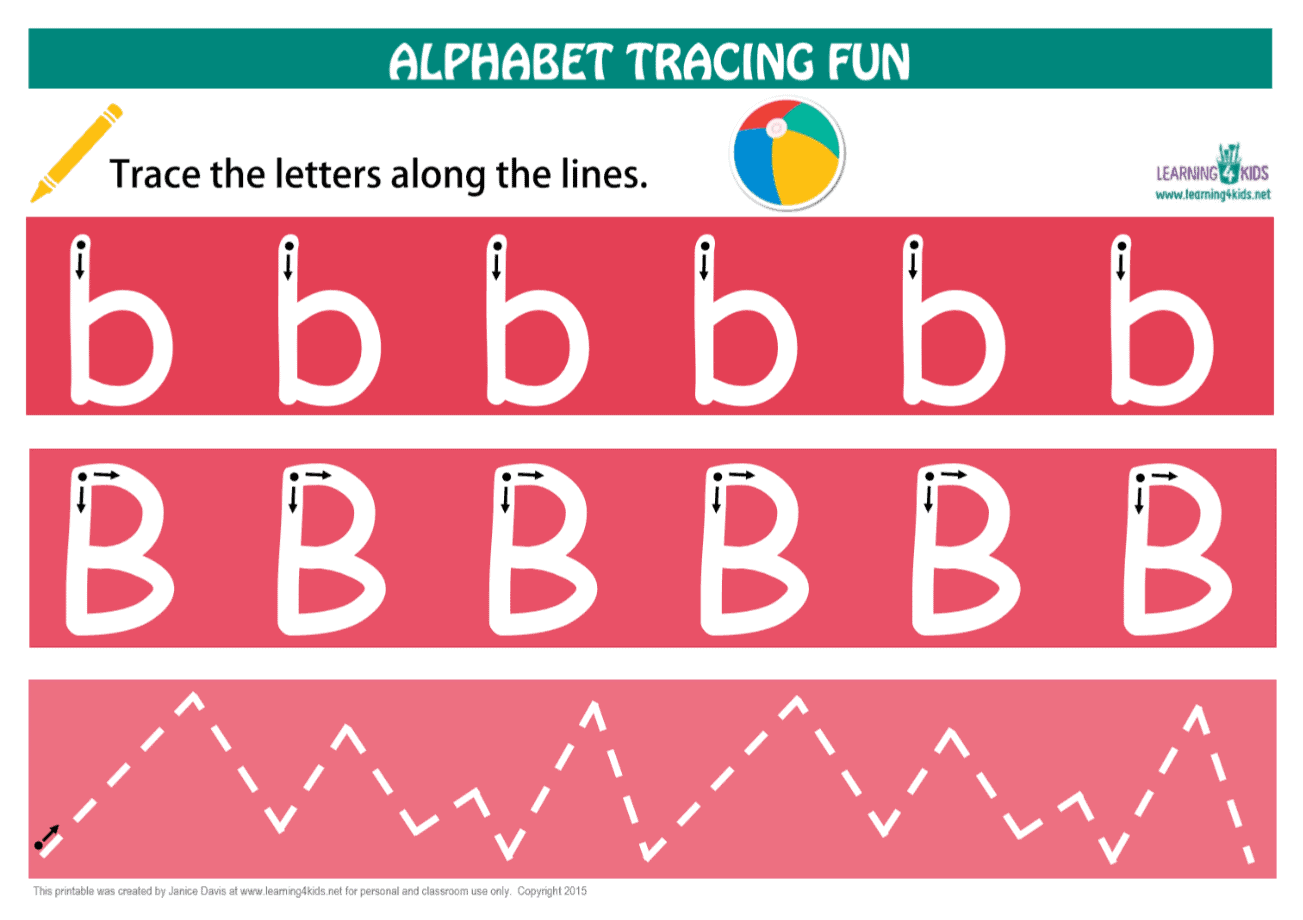 Printable Letter B Tracing Mat