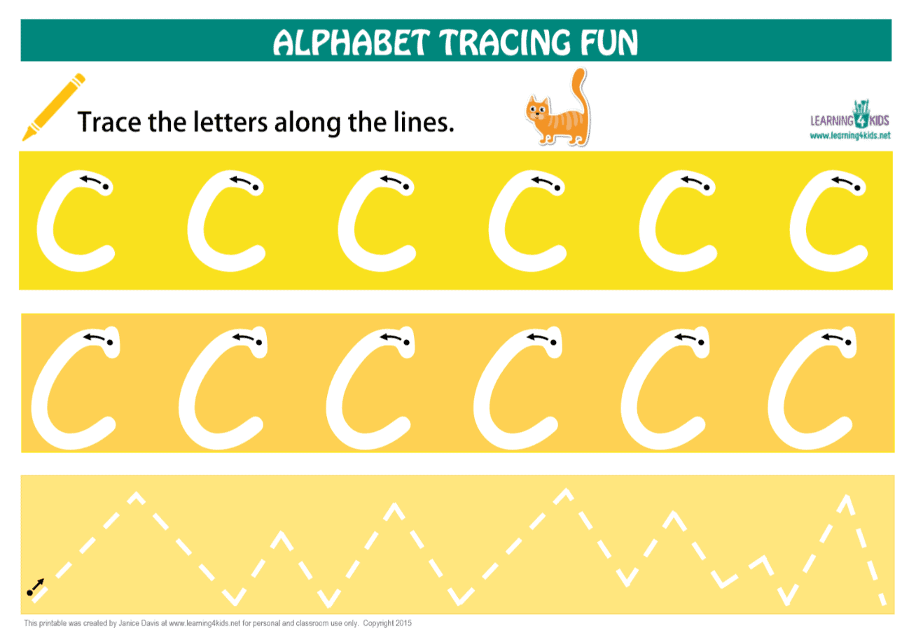 Printable Letter C Tracing Mat