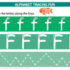 Alphabet Tracing Mat letter F