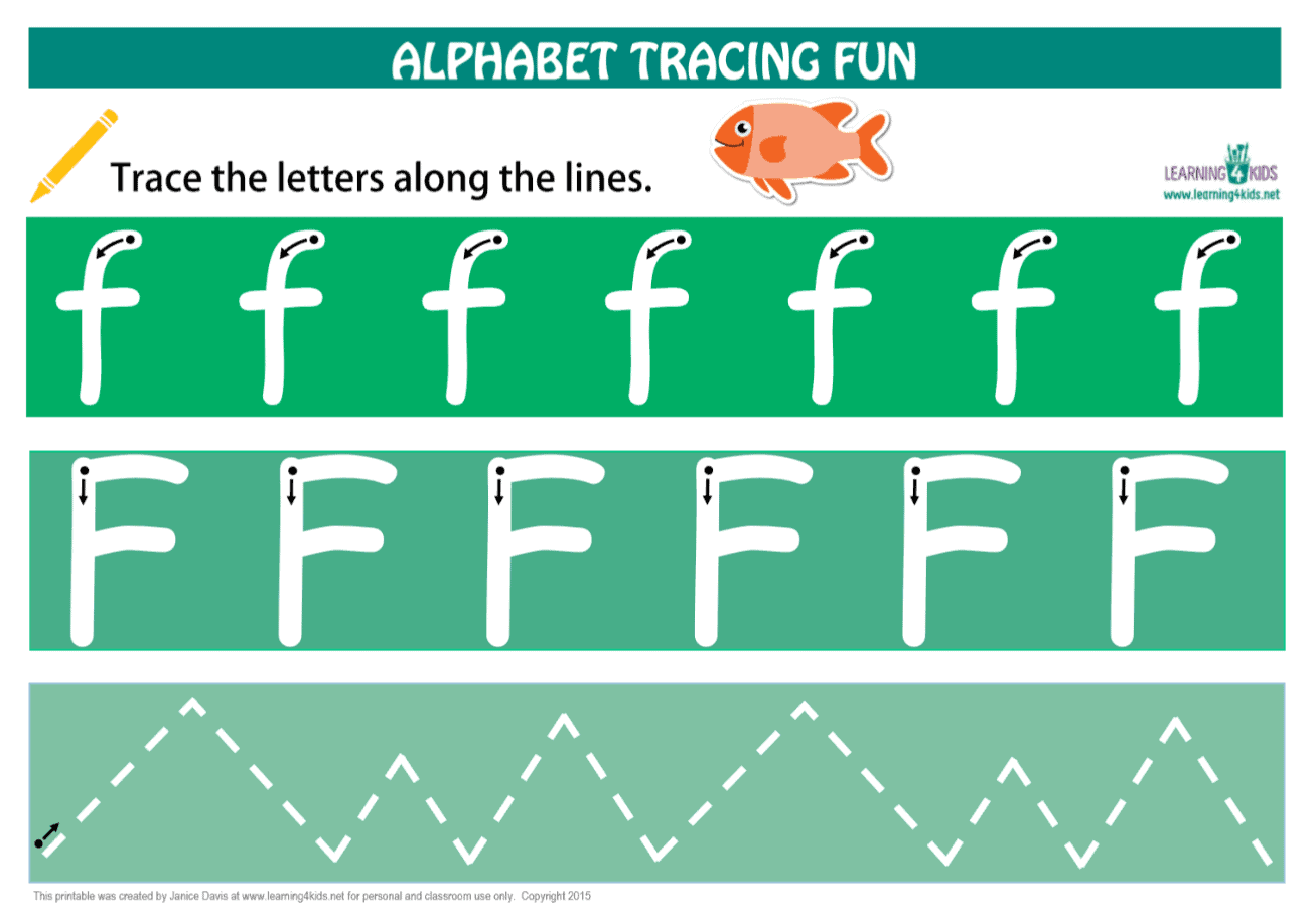 Number & Letters Tracing Mats Standard Print | Learning 4 Kids