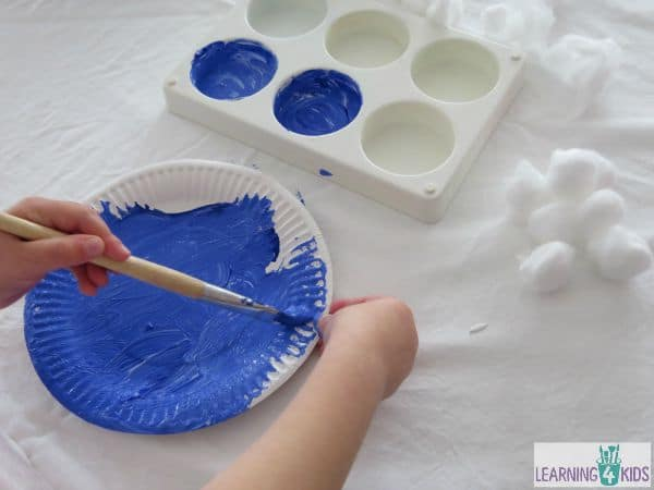 how to make a paper plate cloud craft