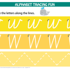 Printable Alphabet Tracing Letter W