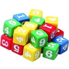 Number Dice Set of 24
