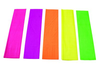 Fluoro Crepe Paper Pack 5 Colours Learning 4 Kids