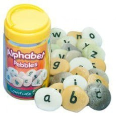Alphabet Pebbles - Lowercase Letters