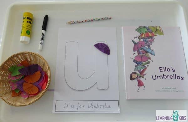 Activities for the letter U - ella's umbrellas