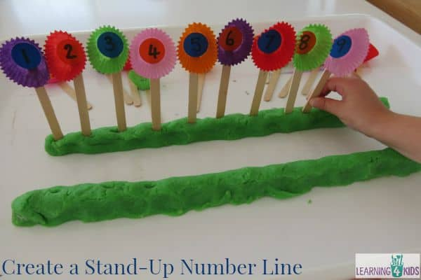Create a Stand Up Number Line