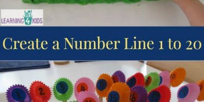 Create a number line 1 to 20 with this fun hands-on activity. This activity can be adapted to fill in the missing numbers on the number line.