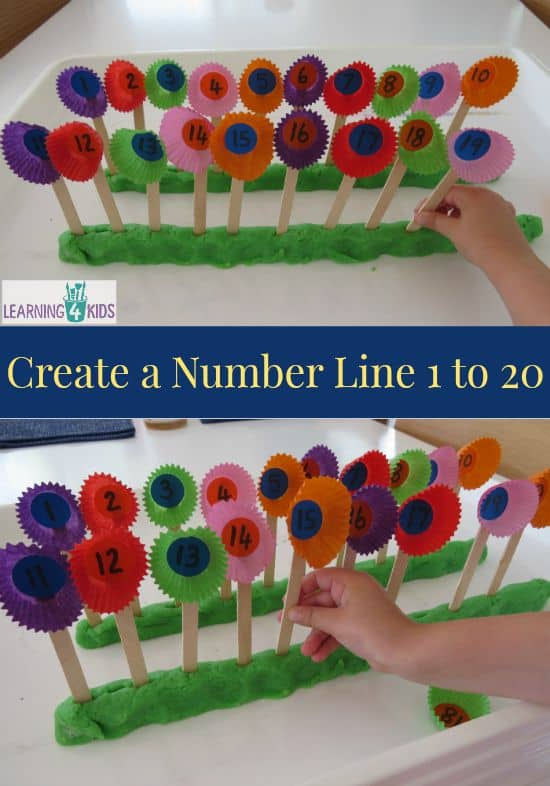 Number Names Worksheets fun activity for kindergarten : List of Play Dough Activities | Learning 4 Kids