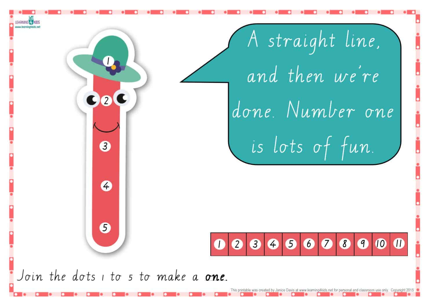Dot-to-Dot Number Rhyme Charts (Cursive Print) | Learning 4 Kids