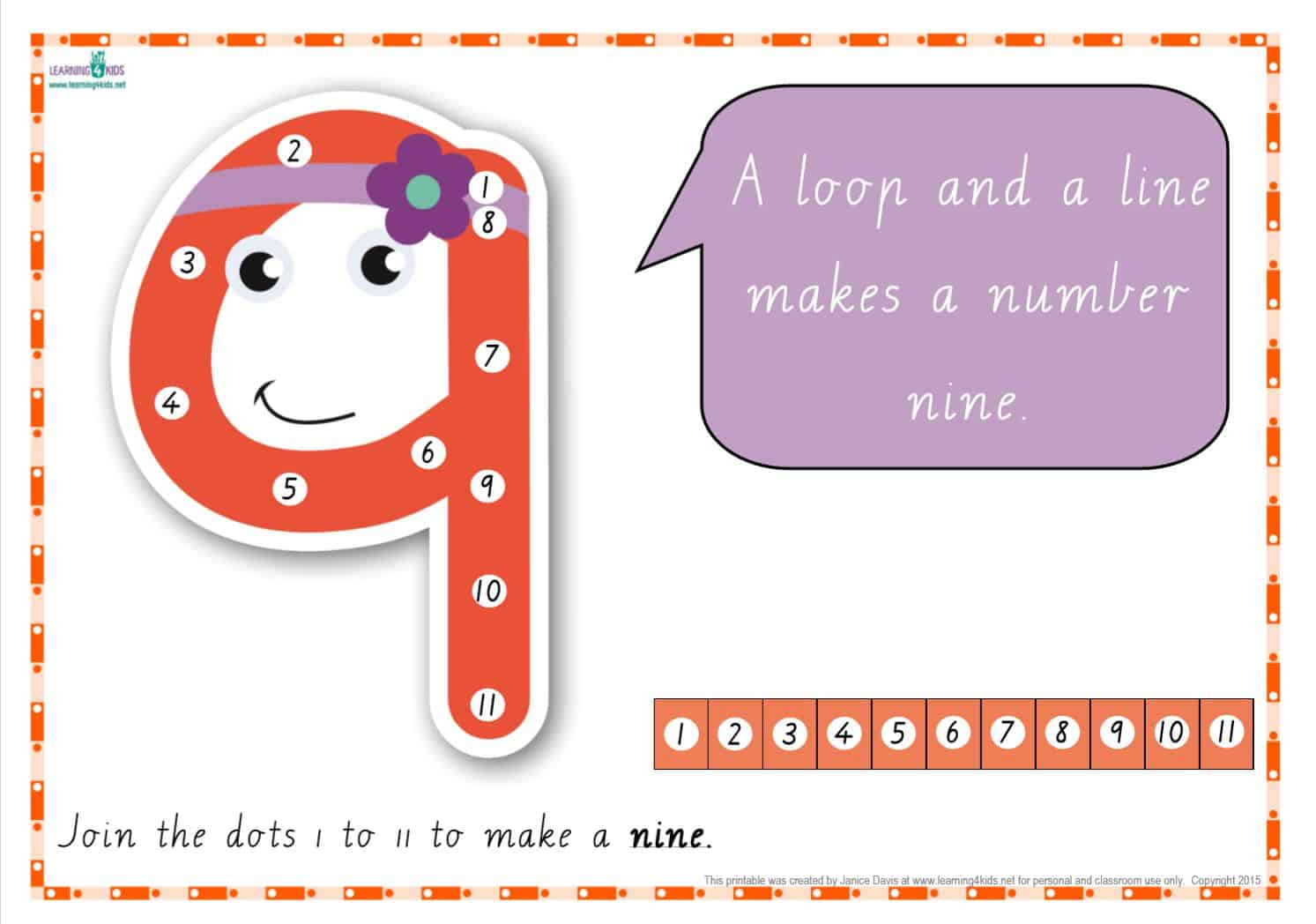 photograph about Printable Numbers 0-9 named Dot-towards-Dot Selection Rhyme Charts (Cursive Print)