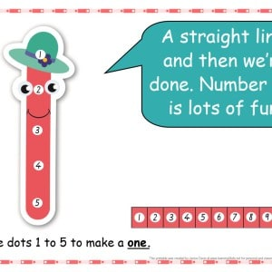 Dot-to-dot number rhyme  number 1