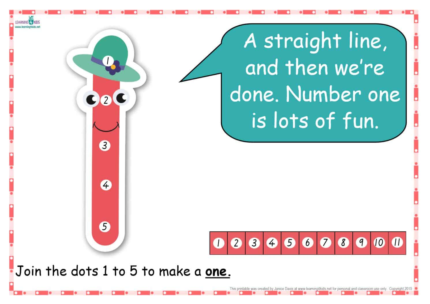picture relating to Number One Printable named Dot-in direction of-Dot Variety Rhyme Charts (Traditional Print)