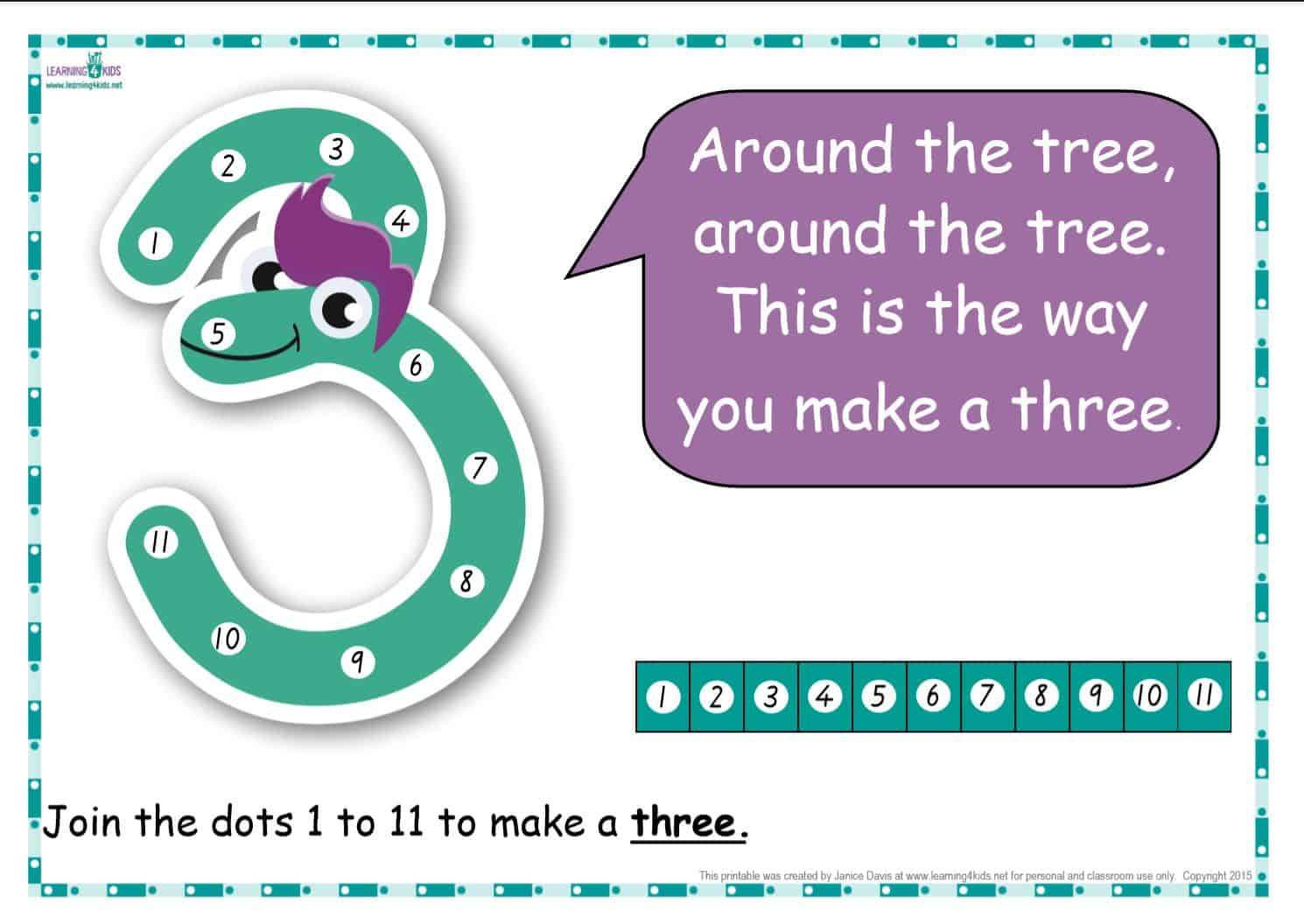 dot to dot number rhyme charts standard print learning 4 kids
