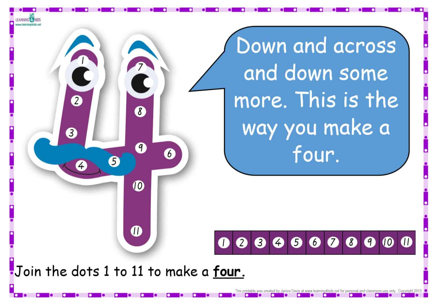 Dot-to-Dot Number Rhyme Charts (Standard Print)