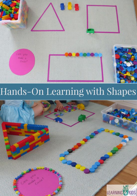 Hands on learning shapes activities learning 4 kids for Educational crafts for toddlers
