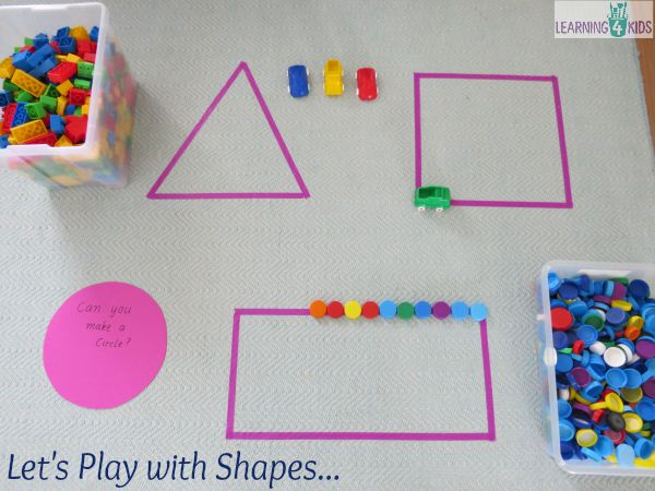 Let's play with shape - fun hands-on activities for learning about shapes.