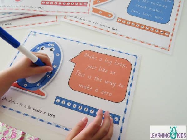 Printable Dot-to-Dot Number Rhyme Charts