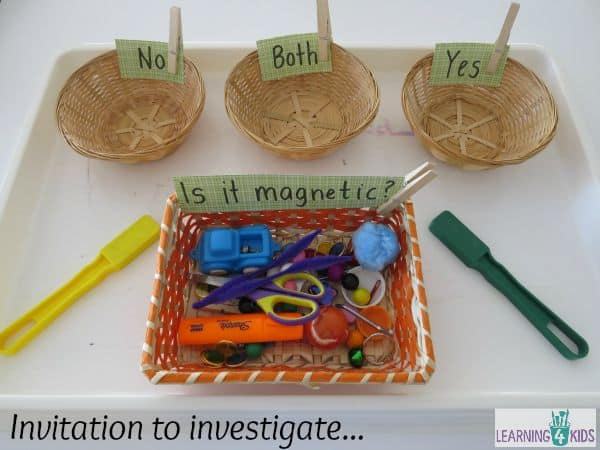 Science concepts - investigating materials.  what is magnetic