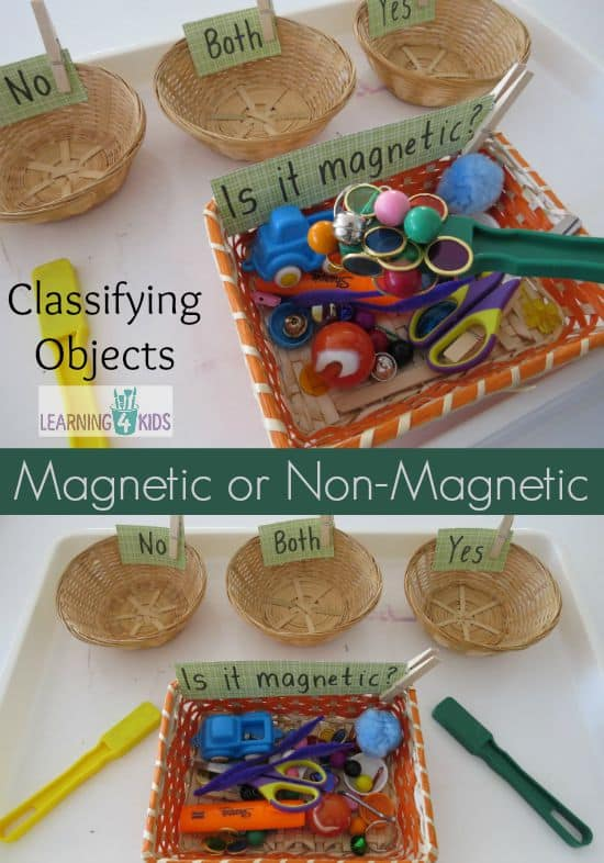 Science fun exploring materials. Is it magnetic