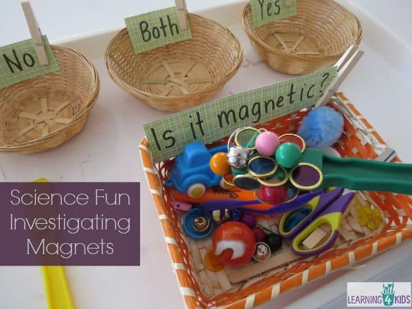 Science fun, investigating and classifying objects magnets
