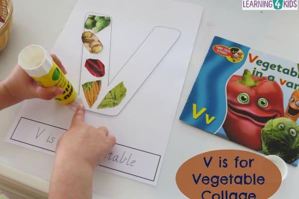 V is for Vegetables Letter V Activity | Learning 4 Kids
