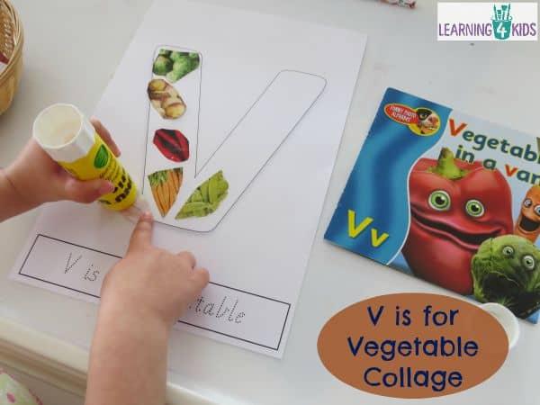 V Is For Vegetables Letter V Activity Learning 4 Kids