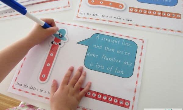 a fun way to learn how to write number - dot-to-dot number rhyme charts. print and laminate for a reusable resource