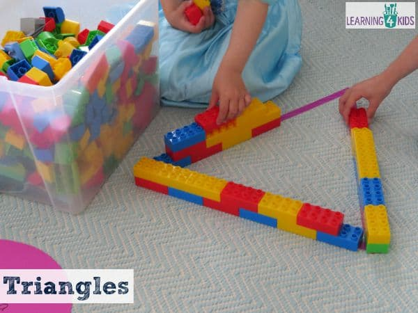 learning about triangles through hands-on activities
