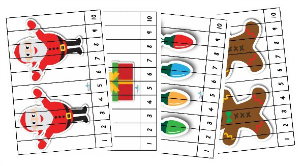 picture relating to Printable Number Puzzles referred to as The Best Xmas Printable Match Pack