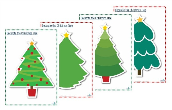 Christmas Tree Play dough or transient art mats